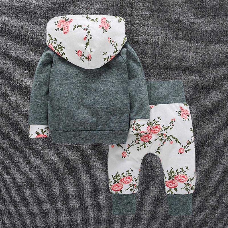 New 2pcs Toddler Infant Baby Girl Clothes Set