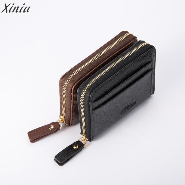 Top brand PU Leather Men Business Wallet Vintage