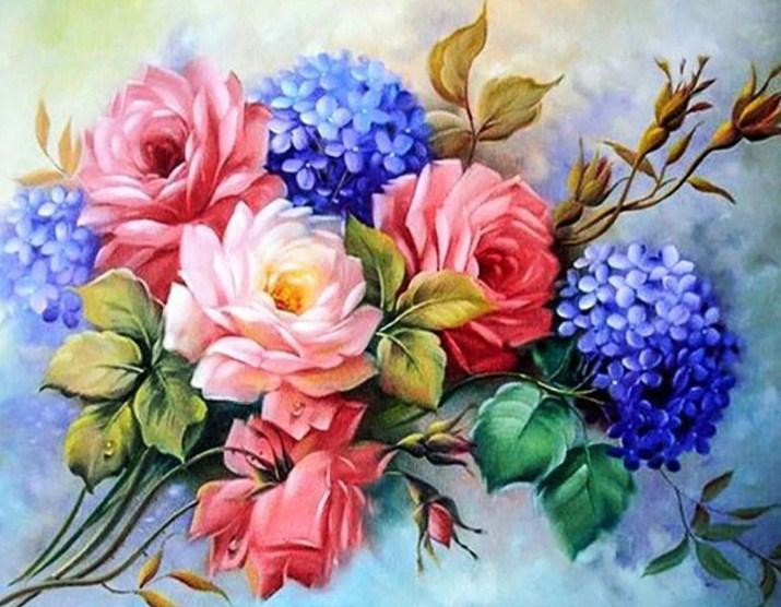 Beautiful Flower Bunch Diamond Painting Kit
