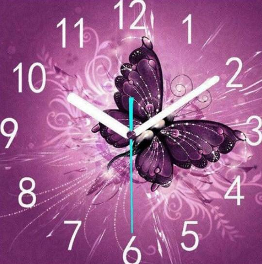 Butterfly Clock Paint by Diamonds
