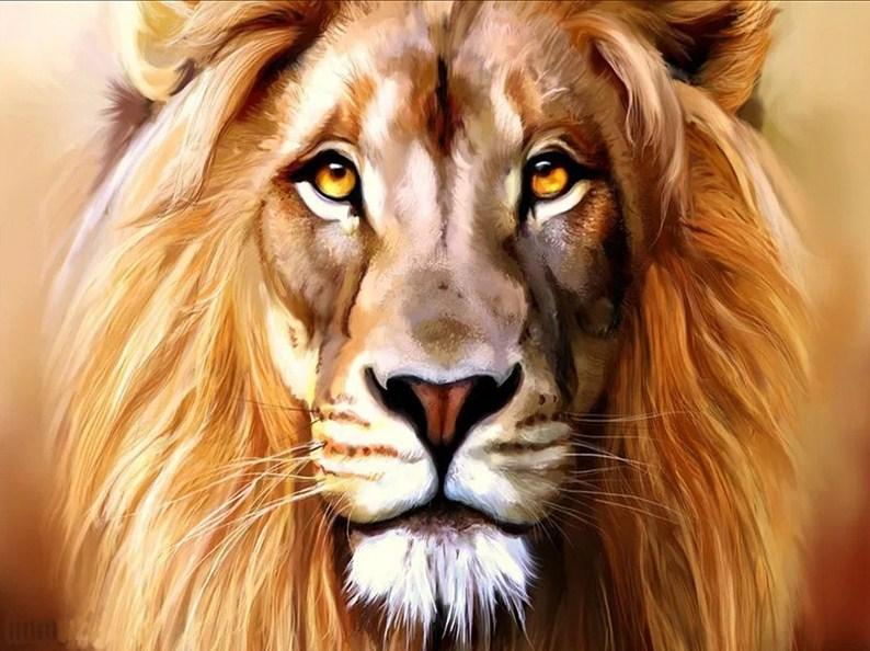 Captivating Lion Diamond Painting Kit