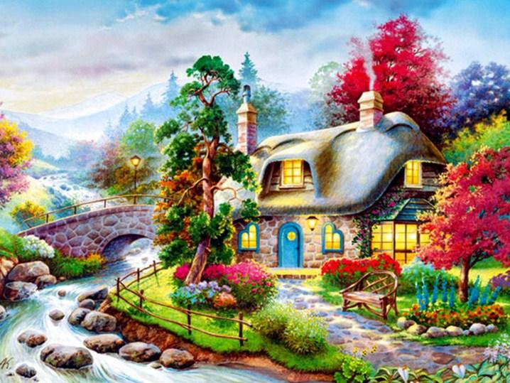 Cozy Cottage Diamond Painting Kit