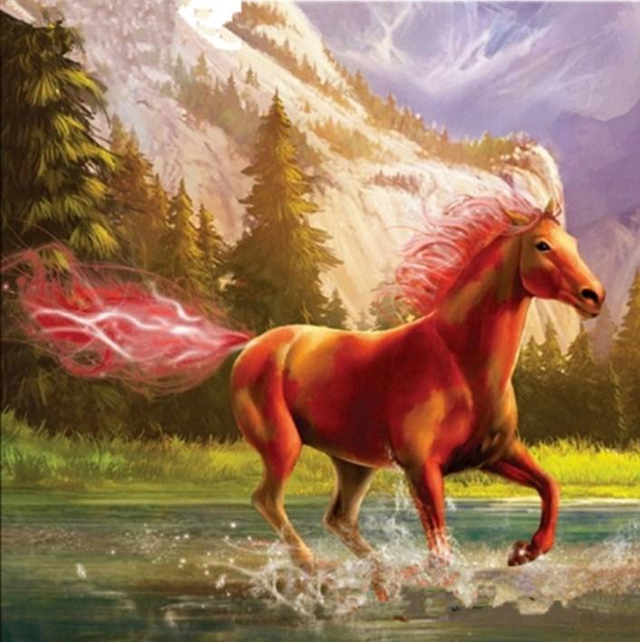 Fantasy Horse in the Water Paint by Diamonds