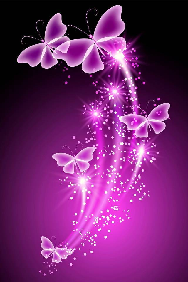 Neon Butterflies Sprinkling Magic Diamond Painting
