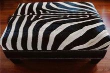 Load image into Gallery viewer, Black Zebra Ottoman - iamzea