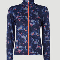 All Over Print Clime Full Zip Fleece | Blue With Pink or Purple
