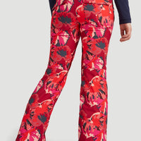 Glamour All Over Print Snow Pants | Red With Pink or Purple