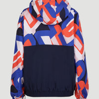 Athleisure Windbreaker | Blue With Red