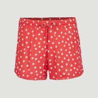 Foundation Crinkle Shorts | Red With White