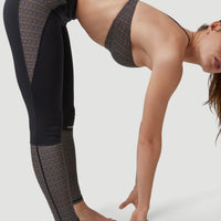 Anglet Surf Legging | Black With Yellow