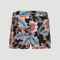 Anglet Board Short All Over Print | Black With Red