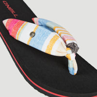 Ditsy Sun Sandals | Yellow With Red