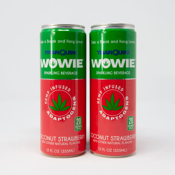 Coconut Strawberry Sparkling Beverage 4-Pack 80MG CBD