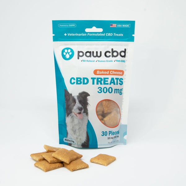 Baked Cheese Paw CBD Dog Treats 300MG CBD