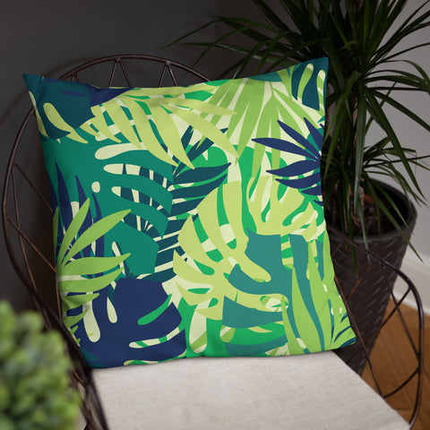 Leaf Print Pillow