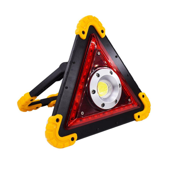 Triangle LED de sécurité rechargeable IP65 Aluminium et ABS