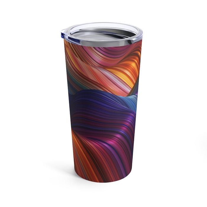 Rainbow Abstract 20oz Stainless Steel Tumbler - TumblerMountainGoods
