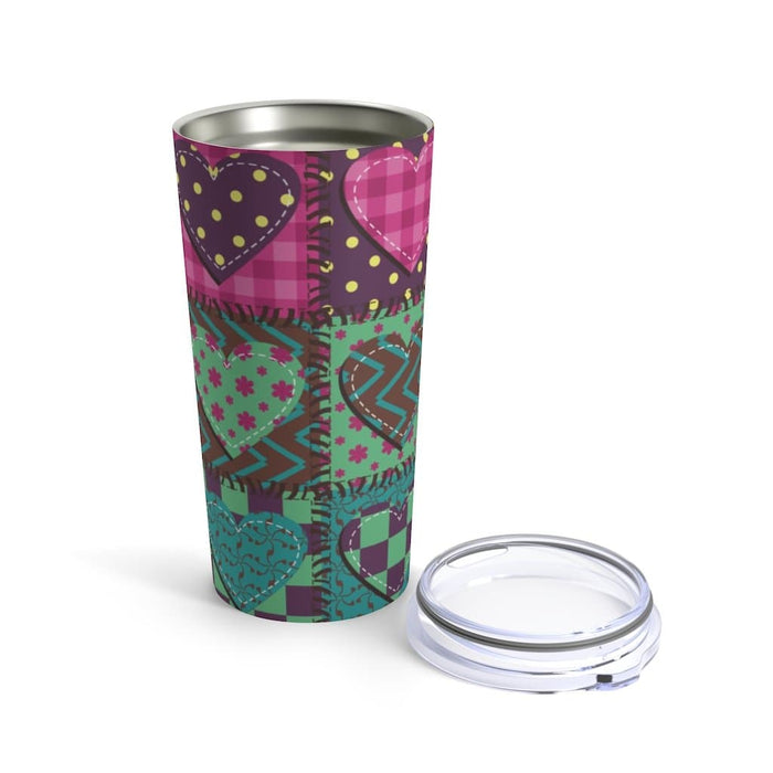 Patch Hearts 20oz Stainless Steel Tumbler - TumblerMountainGoods