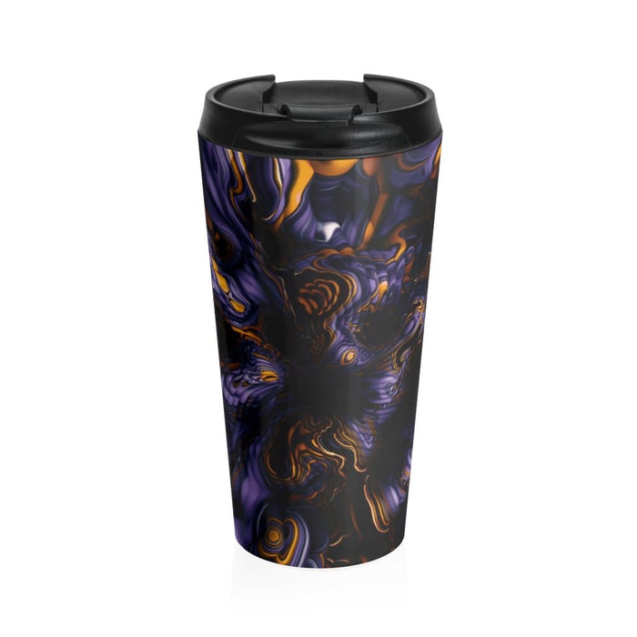 Purple Abstract 15oz Stainless Steel Tumbler - TumblerMountainGoods