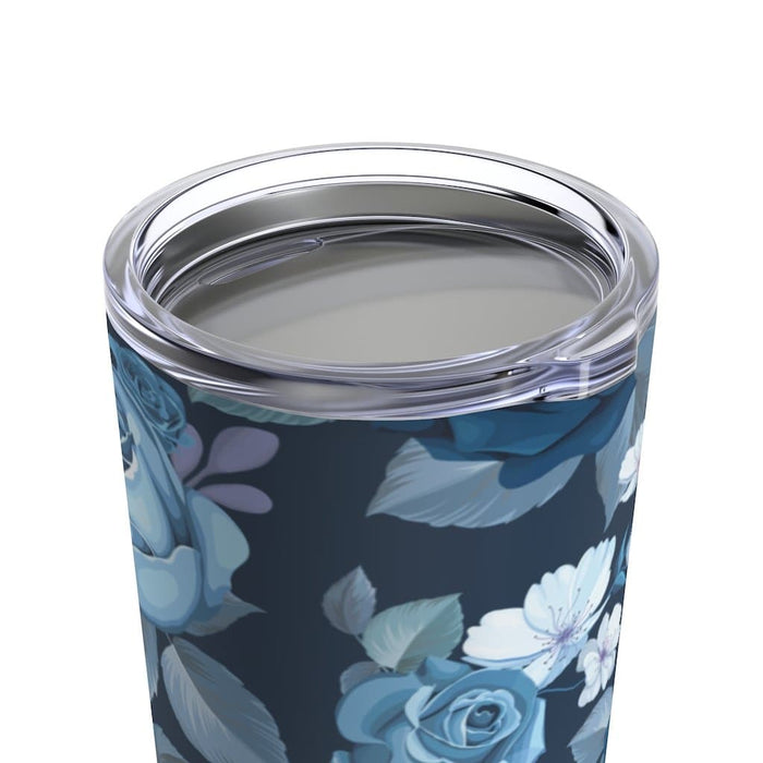 Blue Roses 20oz Stainless Steel Tumbler - TumblerMountainGoods