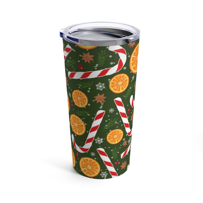 Candy Cane 20oz Stainless Steel Tumbler - TumblerMountainGoods