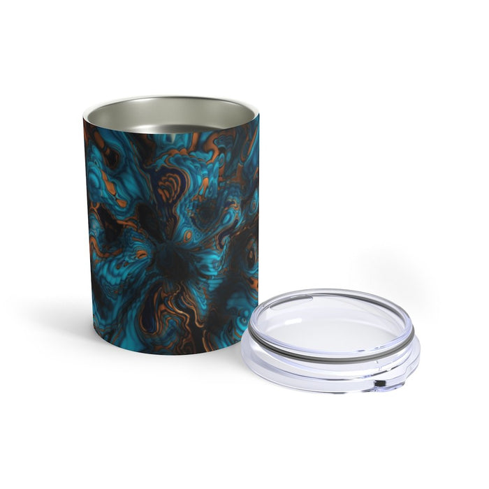 Abstract Blue Liquid Tumbler: Abstract 10oz Drink Tumbler - TumblerMountainGoods