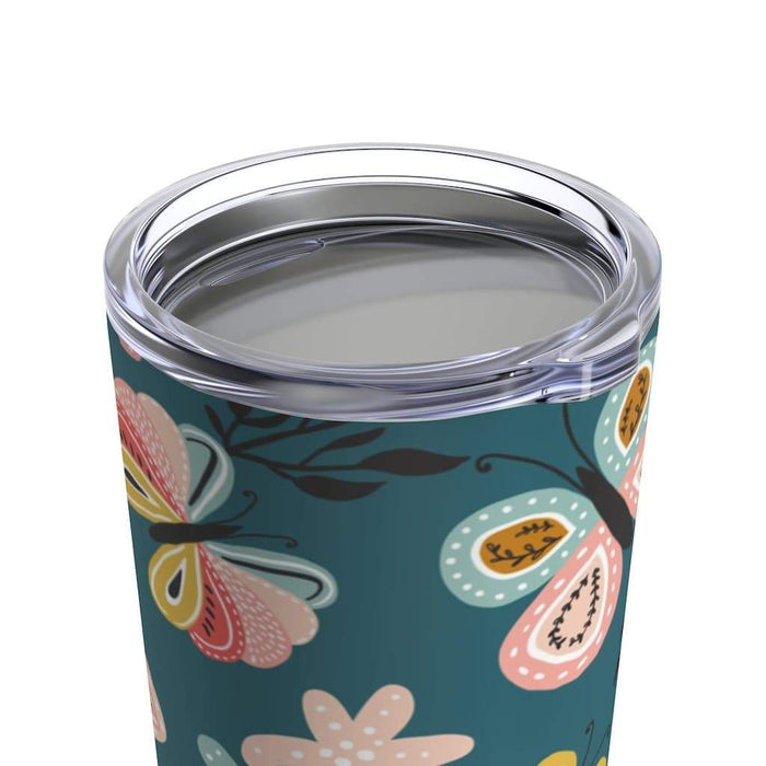 Multi-Color Butterflies Stainless Steel Tumbler - TumblerMountainGoods