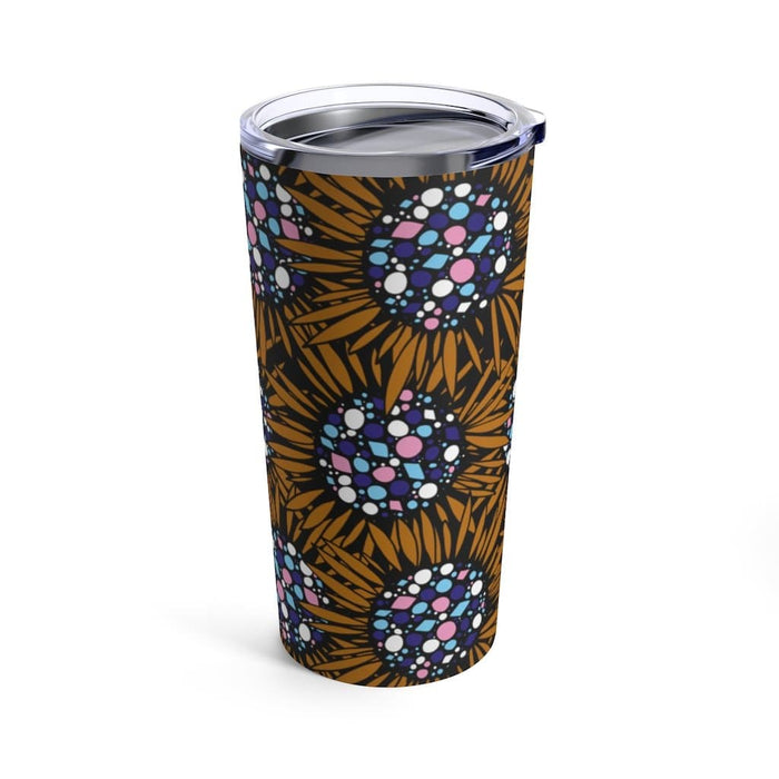 Brown Sunflowers 20oz Stainless Steel Tumbler - TumblerMountainGoods