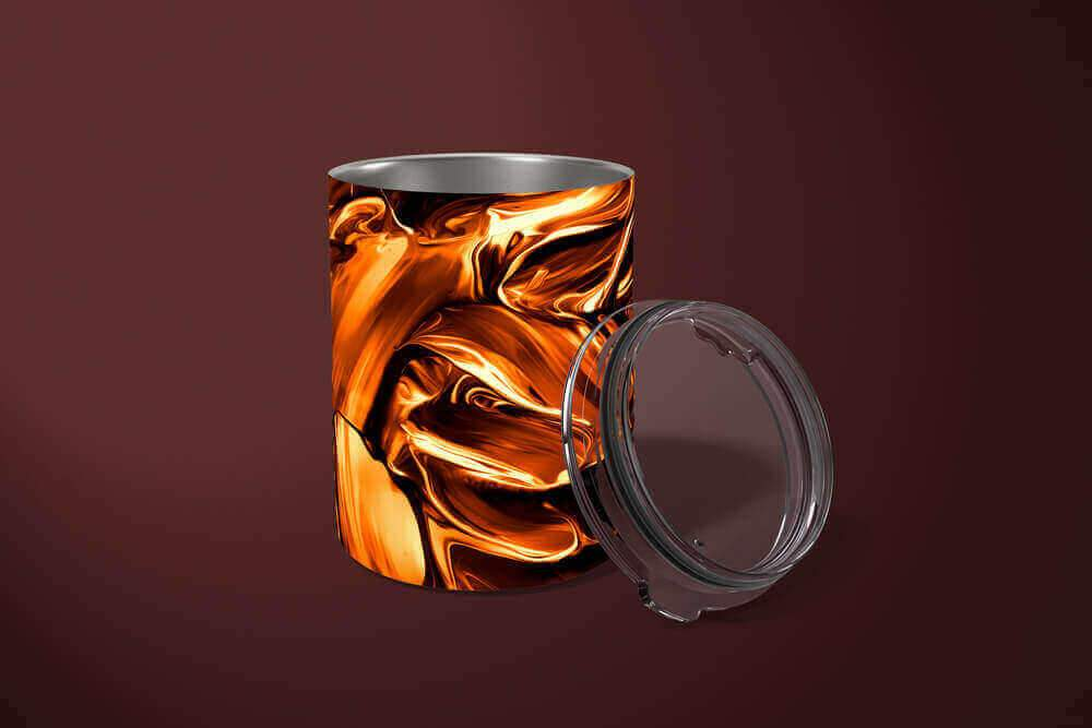 Abstract Gold Tumbler: Abstract 10oz Drink Tumbler - TumblerMountainGoods