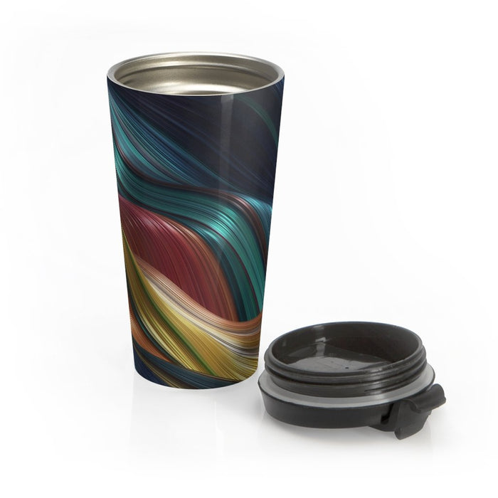 Ribbon Abstract 15oz Stainless Steel Tumbler - TumblerMountainGoods