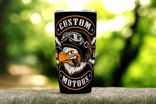 Biker Eagle 20oz Stainless Steel Tumbler - TumblerMountainGoods