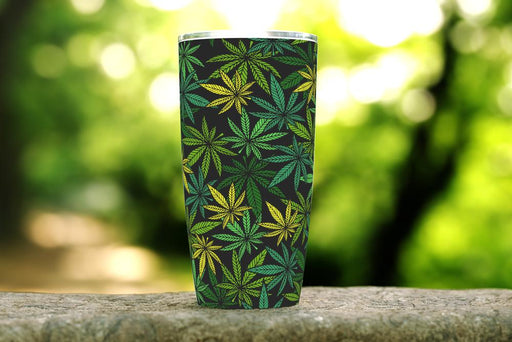 Cannabis Leaf 20oz Stainless Steel Tumbler - TumblerMountainGoods