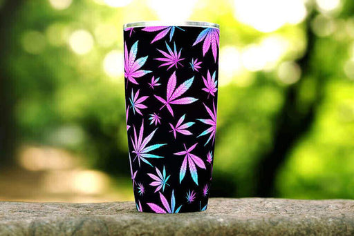 Purple Cannabis 20oz Stainless Steel Tumbler - TumblerMountainGoods