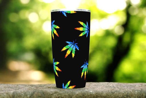 Cannabis Hippie 20oz Stainless Steel Tumbler - TumblerMountainGoods