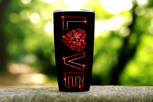 Cannabis Love 20oz Stainless Steel Tumbler - TumblerMountainGoods