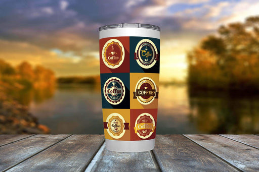 Coffee Badge 20oz Viking Tumbler - TumblerMountainGoods
