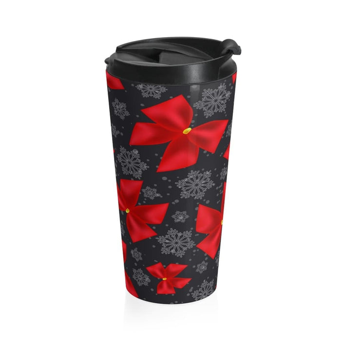 Christmas Ribbons 15oz Stainless Steel Tumbler - TumblerMountainGoods