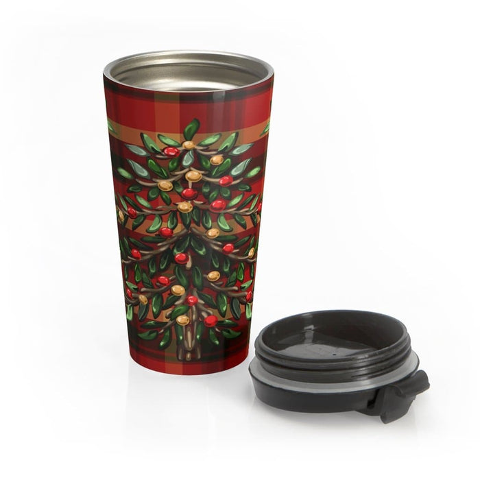 Christmas Tree II 15oz Stainless Steel Tumbler - TumblerMountainGoods