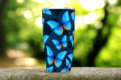 Blue Butterfly 20oz Stainless Steel Tumbler - TumblerMountainGoods