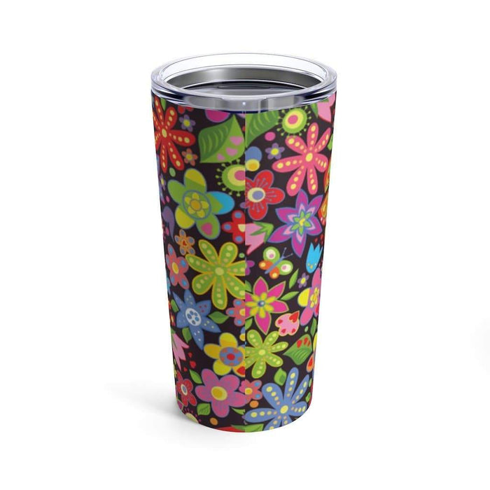 60s Flower Power 20oz Stainless Steel Tumbler - TumblerMountainGoods