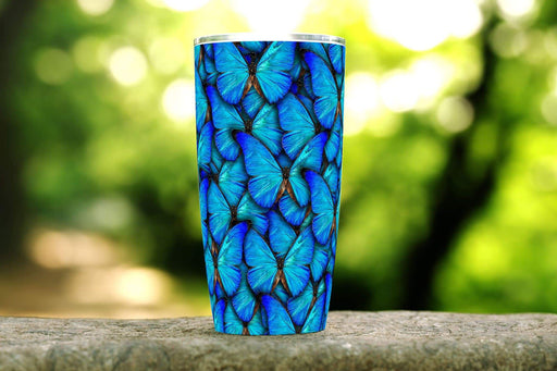 Blue Butterflies 20oz Stainless Steel Tumbler - TumblerMountainGoods