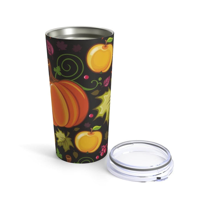 Autumn Pumpkins 20oz Stainless Steel Tumbler - TumblerMountainGoods