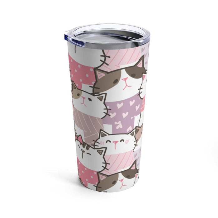Pink Kittens 20oz Stainless Steel Tumbler - TumblerMountainGoods