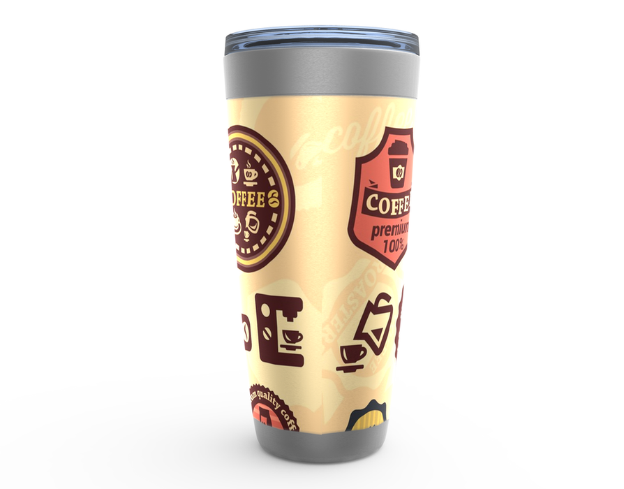 Retro Coffee 20oz Viking Tumbler - TumblerMountainGoods