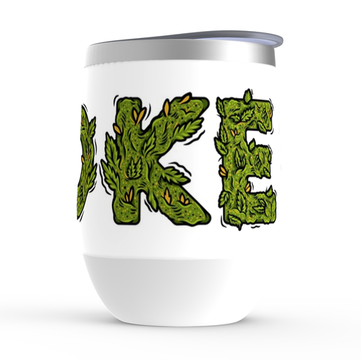 Cannabis Smoke Stemless Tumbler: Insulated Wine Tumbler - TumblerMountainGoods