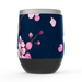 Pink Blossom Stemless Tumbler: Insulated Wine Tumbler - TumblerMountainGoods