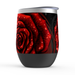 Rose Stemless Tumbler: Insulated Wine Tumbler - TumblerMountainGoods