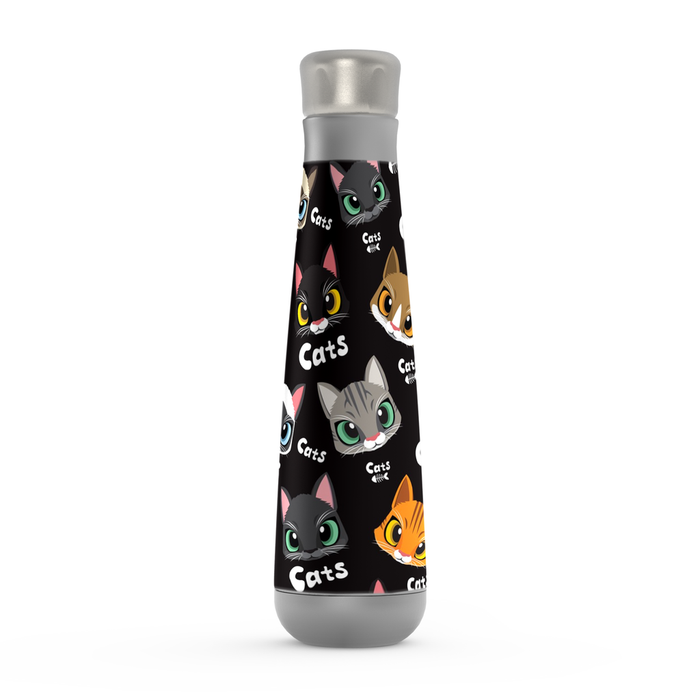 Cute Cats Peristyle Bottle: Insulated Water Bottle - TumblerMountainGoods