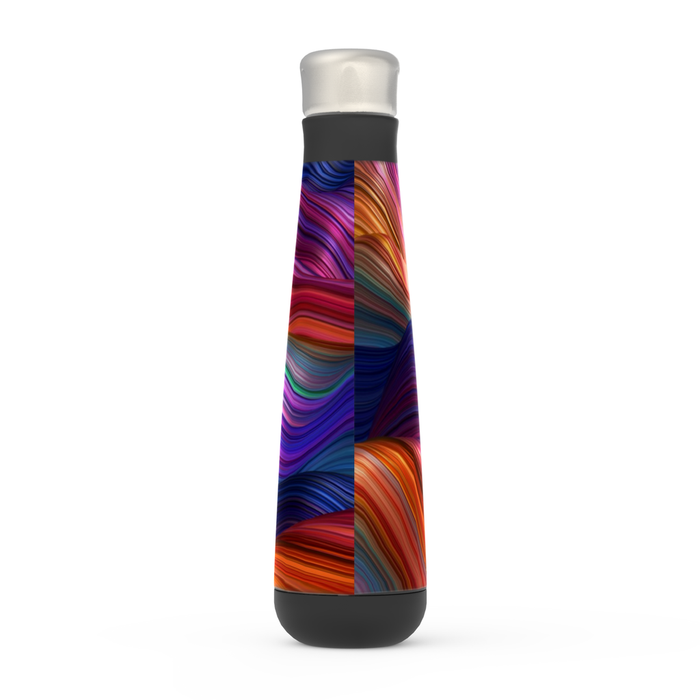 Rainbow Abstract Peristyle Bottle: Insulated Water Bottle - TumblerMountainGoods