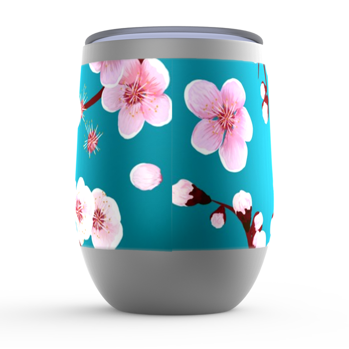 Blossoms Stemless Tumbler: Insulated Wine Tumbler - TumblerMountainGoods